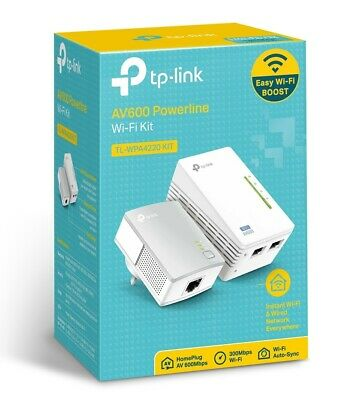 TP-Link TL-WPA4220 Wireless Powerline Ethernet Adapter Addon WIFI Extender AV600