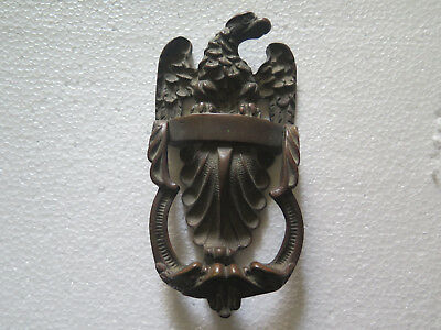 BRASS or BRONZE EAGLE DOOR KNOCKER ORIGINAL c1913 Rd No 628867 EXCELLENT CONDITn