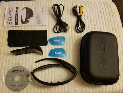 NWOT ACTIVE-i Video Recording Glasses Wireless UV Protection Polarized 2 Hrs Rec