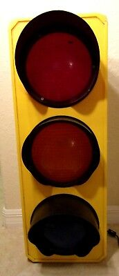 Vintage Novelty Children Stop Light TRAFFIC SIGNAL LAMP Wall hanging