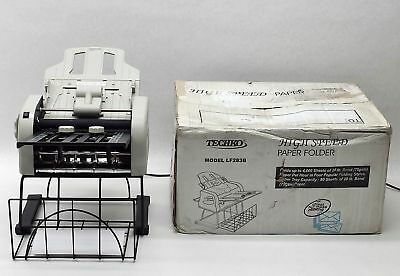 Techko Lf283B Automatic Letter Mass Mailing Paper Folder Folding 4000 Sheets/hr
