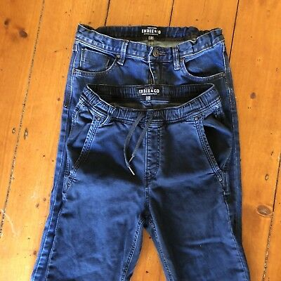2 Pairs Indie & Co Boys Jeans - Size 12