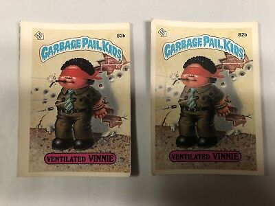 Garbage Pail Kids MISPRINT 1985 2nd Series - Ventilated Vinnie 82b FREE SHIPPING