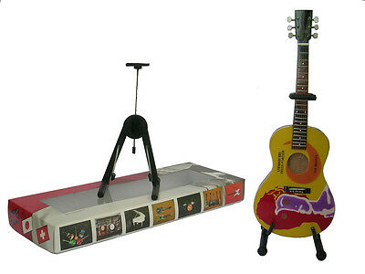 NEW High Quality Miniature Guitar and stand - Beatles Strawberry Fields Forever