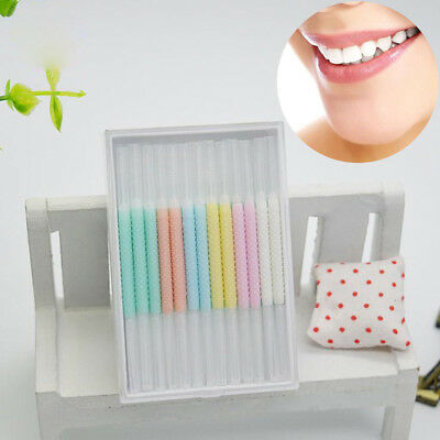 50pc/box interdental brush Floss stick dental toothpick teeth clean oral hea LC