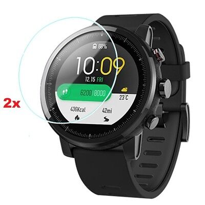 2PCs Huami Amazfit Stratos 2/2s HD Clear Tempered Glass Screen Protector Film