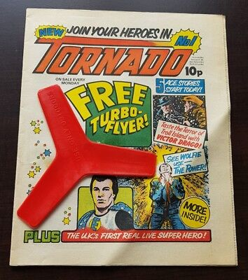 Tornado Comic No 1 1979 Free Gift Turbo Flyer 1st Issue First One UK Rare