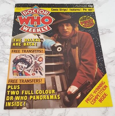 Doctor Who Weekly Marvel Comic Magazine First Issue One 1st Free Gift Oct 1979