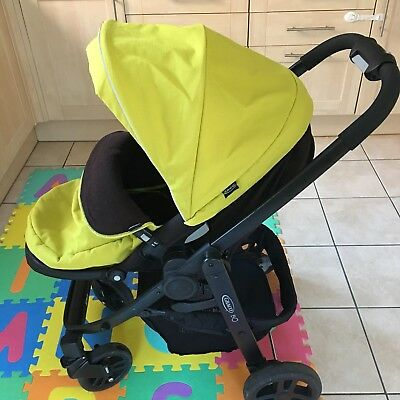 Graco Evo Lime Baby Pushchair and a Baby Car Seat
