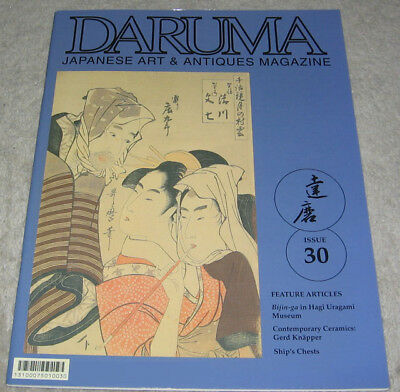 Daruma Magazine English 30 Japanese Antiques Tansu Key Ukiyo E Ceramics Chawan