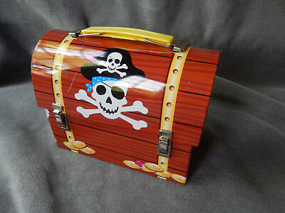 Pieces of Eight--toy tin PIRATE TREASURE CHEST / SNACK or mini-LUNCHBOX, 2012