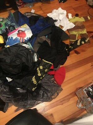 Huge Lot Of  Halloween Costume Items Capes Hats Mask