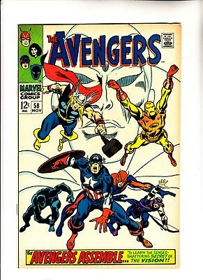 Avengers 58 second appearance of Vision plus origin issue