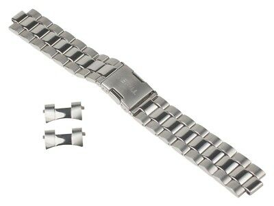 Timex Spare Band Stainless Steel Silver High Gloss/Matt Solid 20mm for T2N505