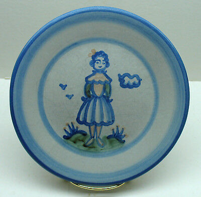 """M.A.Hadley Wife 7.5""""Salad Plate Country handpainted stoneware pottery"""