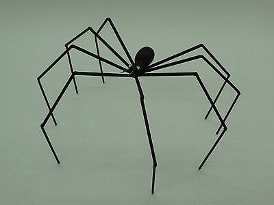 """5 1/4"""" High Wire And Wood Black Spider"""