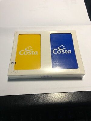 2 decks of Sealed Costa  Cruise Line Ship Playing Cards