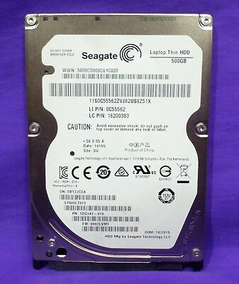 Seagate 500GB Thin 7mm 5400 Hard Disk Drive #16200383 for Lenovo Flex 2 Laptop