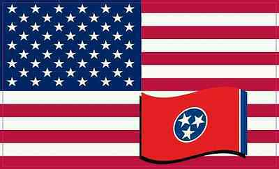 5X3 America and Tennessee Flag Magnet Vinyl Patriotic Car Decal Vehicle Magnets