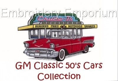 Gm Classic 50's Cars Collection - Machine Embroidery Designs On Cd