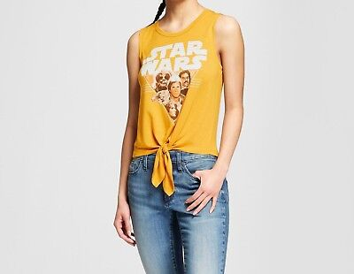 Star Wars Tank Top Tie-Front, Women's Size X-Small