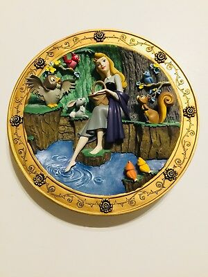 Sleeping Beauty 3D Plate Disney Limited Edition Once Upon A Dream #800/10000