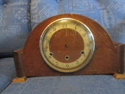 Antique Westminster Chiming Wood Mantle Clock - for Spares