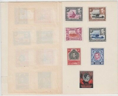Stamps 1937 Kenya Uganda Tanzania various KGV1 issues in presentation folder