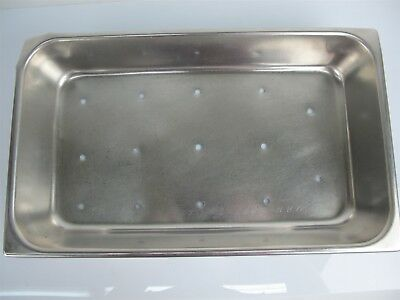 Vollrath 7426-2 Stainless Steel Instrument Tray 16.5x9.75x2.5 Inches