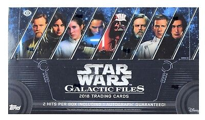 2018 Topps Star Wars Galactic Files FACTORY SEALED Hobby Box Free S&H