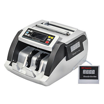 HFS(R) Bill Money Counter World Currency Cash Counting Machine UV MG Counterfeit