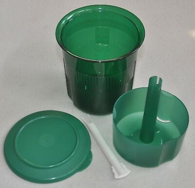 Tupperware Jeweled Green Round Pick-A-Deli Pickle Olive Keeper 3120A