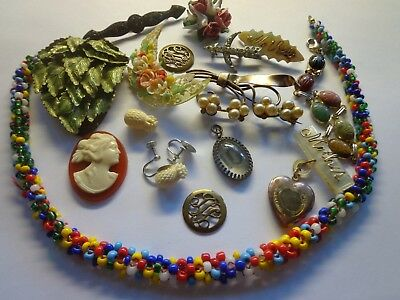 Antique Victorian Art Deco Later Repair Jewelry Lot