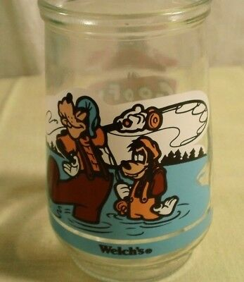 Welchs Collectible Jelly Jar Glass Disney A Goofy Movie Father and Son