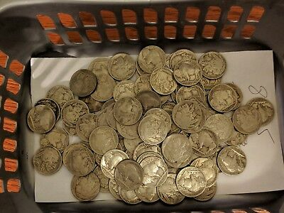 No Reserve Lot of 88 Buffalo Nickels With Dates 1935, 1936 & 1937 P, D & S Mint