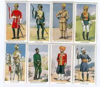INDIA Lot of  8 British Empire Indian Military Soldiers Cards from 1939