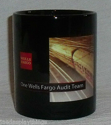 "Wells Fargo Audit Team Mug Cup 3.5"" Black Advertising"