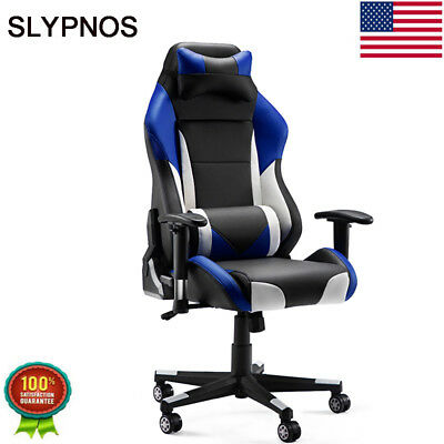 Office Computer Gaming Chair Racing High-Back Swivel PU Leather Desk Bucket Seat