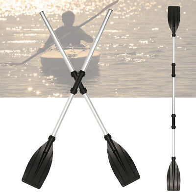 2Pcs Aluminum Detachable Afloat Kayak Oars Boat Rafting Canoe Paddle Tool New