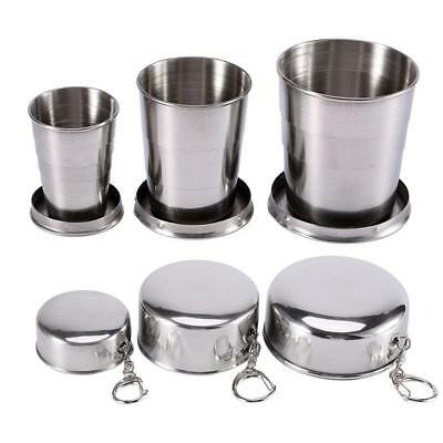 Stainless Steel Portable Outdoor Camping Travel Foldable Collapsible Cup