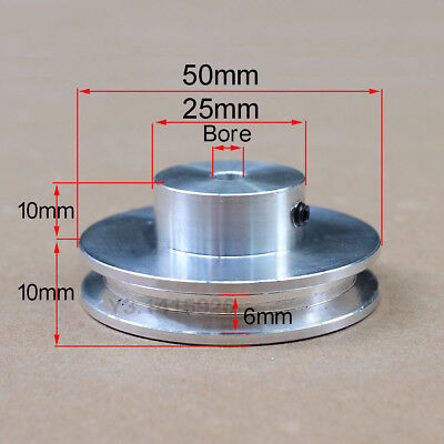 50mm Outer Diameter M/_M/_S V-Groove Step Pulley 5 to 15mm Bore Select Size