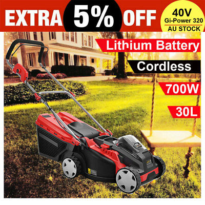 Giantz Lawn Mower Portable Cordless Powered Electric Lawnmower Lithium Battery