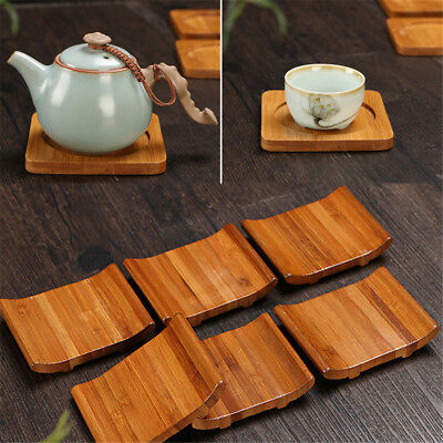 Bamboo Wooden Tea Cup Placemat Heat Insulation Coaster Mat Coffee Drinks Holder