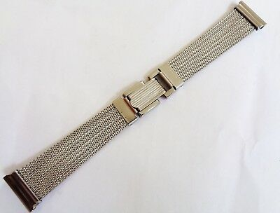 Vintage 20mm New Old Stock Stainless Steel Mesh expandable Watch Bracelet