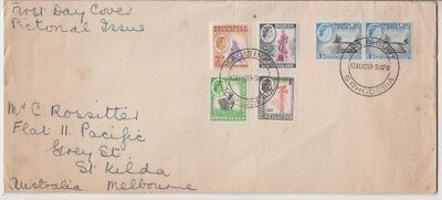 Stamps Rhodesia & Nyasaland various on cover postmarked first day to Australia