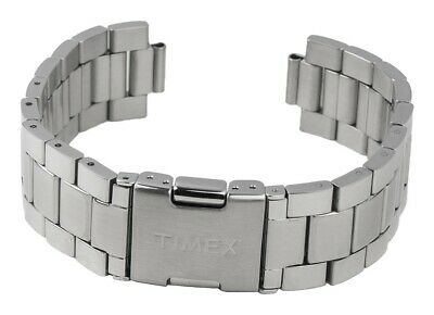 Timex Spare Band Stainless Steel Silver High Gloss/Matte for T2N563 T2N565