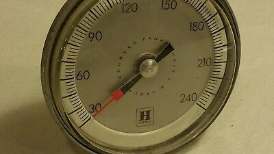 vintage industrial circular steampunk honeywell thermometer