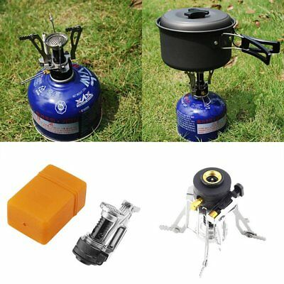 Folding Mini Camping Survival Cooking Furnace Stove Gas Burner Outdo ES