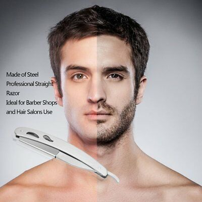 Men Straight Barber Edge Steel Razors Folding Shaving Knife With 10pcs Blad ES