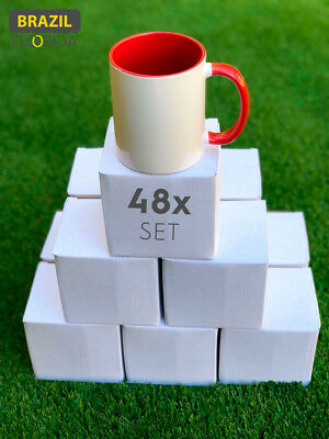 48 AA Two Tone Red Sublimation Mugs 11oz with Individual Boxes